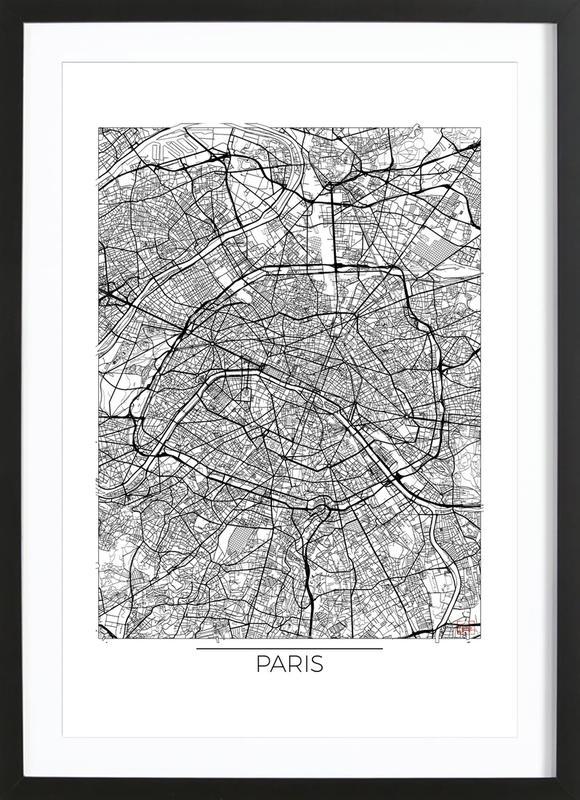 Paris Minimal Framed Print