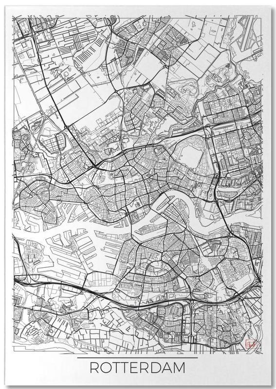 City Maps, Rotterdam, Rotterdam Minimal Notepad