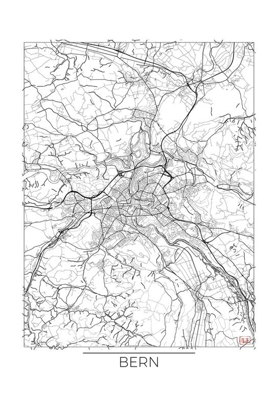 Bern Minimal Impression sur alu-Dibond