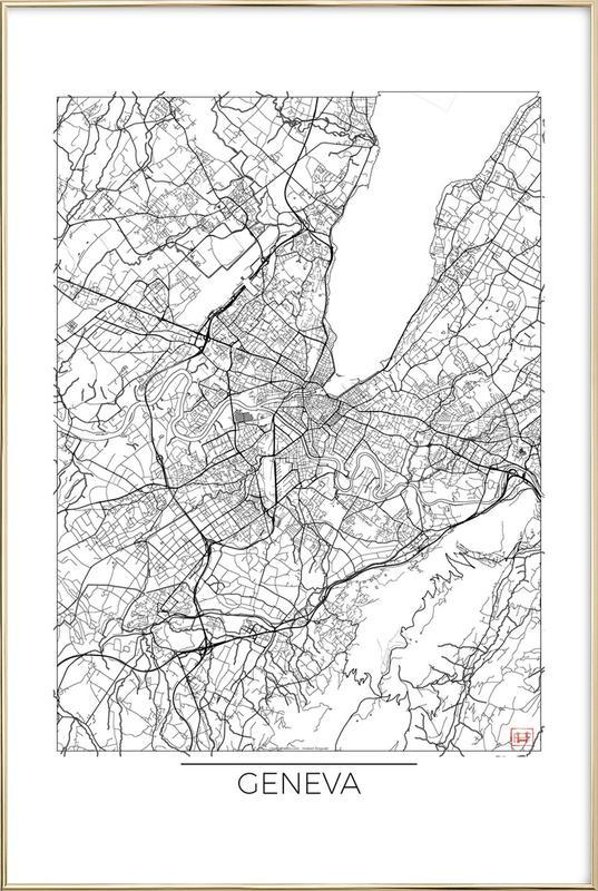 Geneva Minimal -Poster im Alurahmen