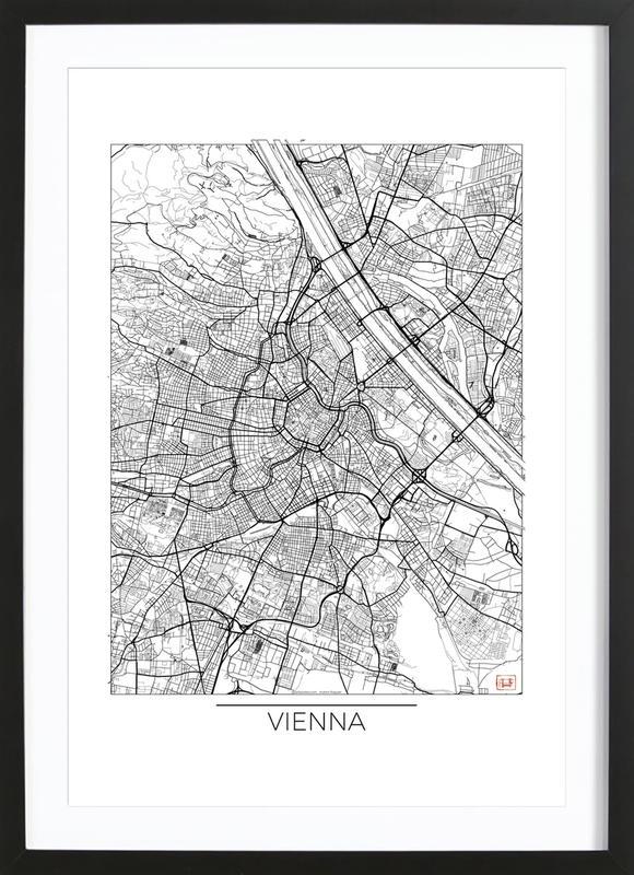Vienna Minimal affiche sous cadre en bois