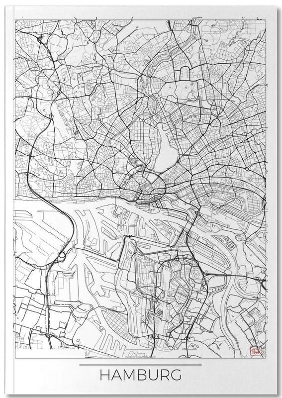 Hambourg, Cartes de villes, Hamburg Minimal Notebook