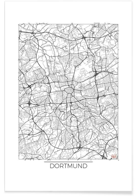 Dortmund Minimal Map Poster