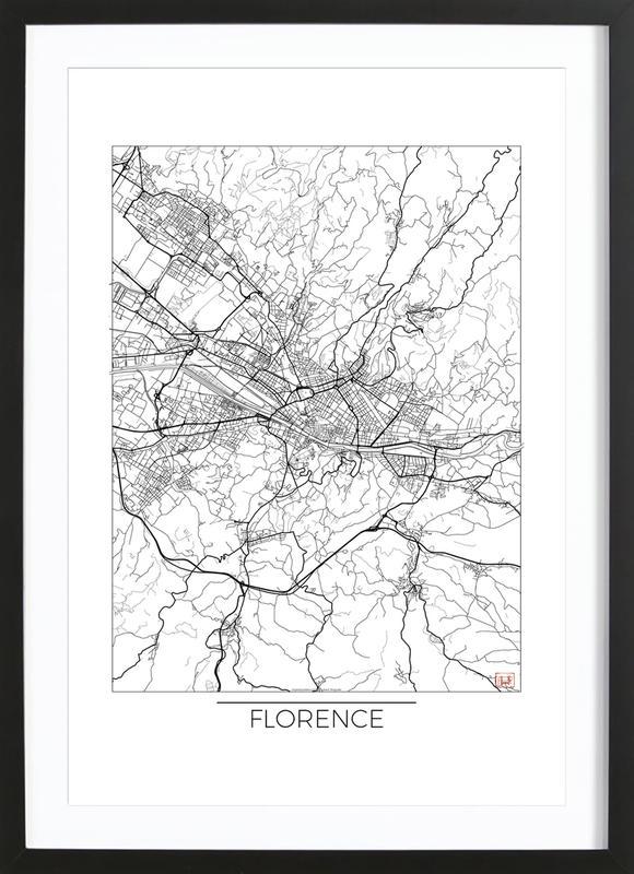 Florence Minimal ingelijste print
