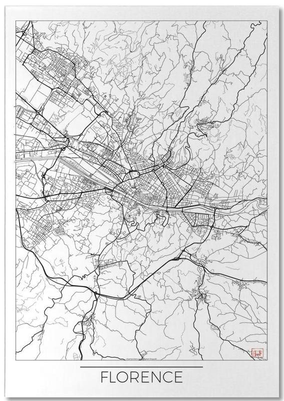 Stadskaarten, Florence Minimal notitieblok
