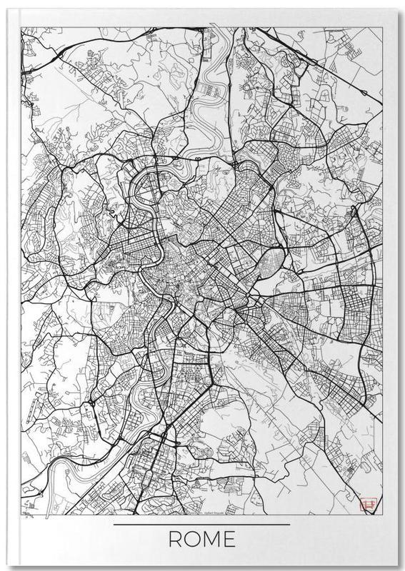 Rome, Cartes de villes, Rome Minimal Notebook