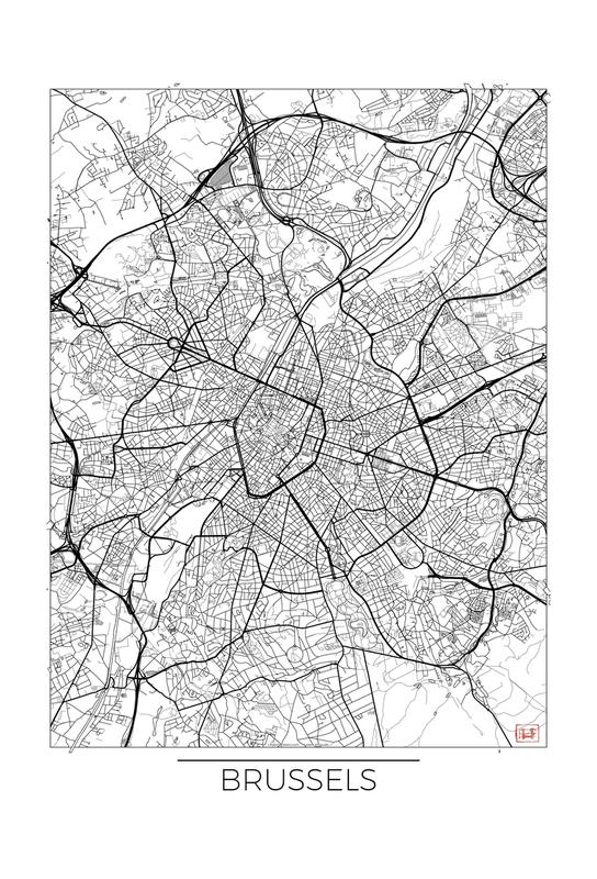 Brussels Minimal Impression sur alu-Dibond