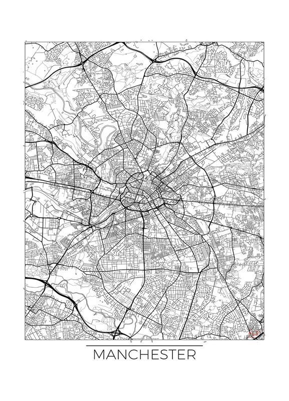Manchester Minimal -Leinwandbild