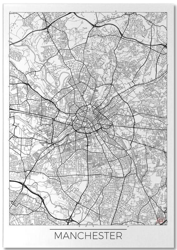 Manchester, Cartes de villes, Manchester Minimal bloc-notes