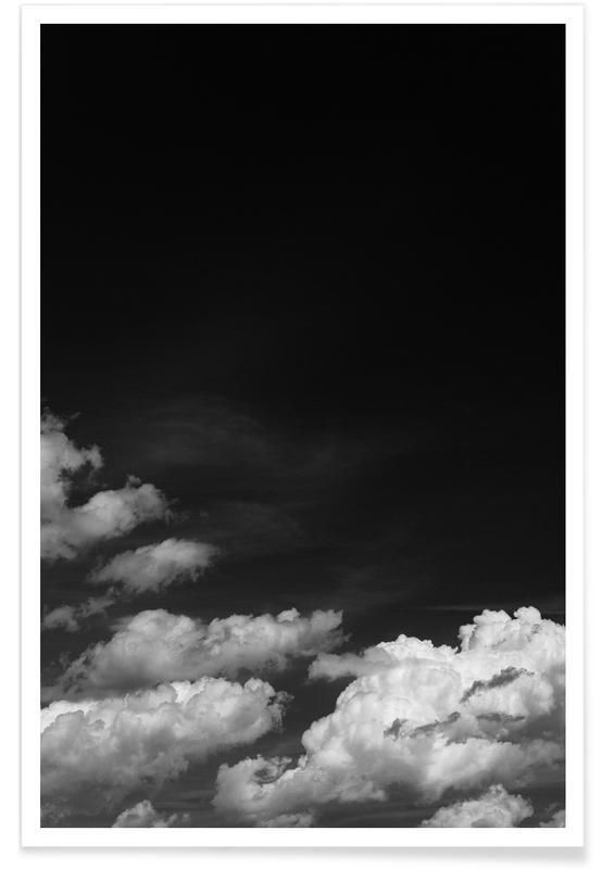 Zwart en wit, Lucht en wolken, Black Sky poster