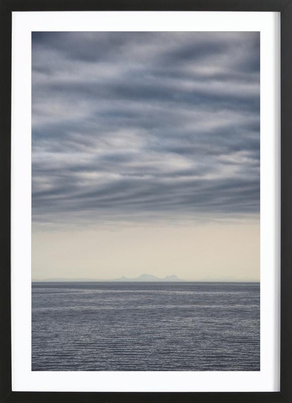 Let's Meet at the Horizon 2 -Bild mit Holzrahmen