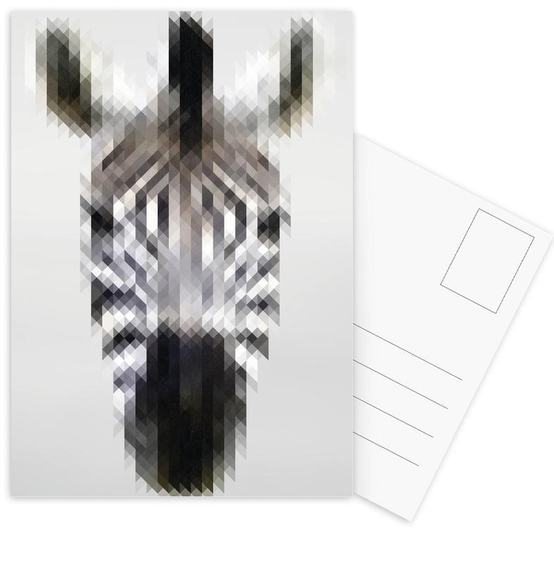 Zebra's, Safari dieren, Zebra ansichtkaartenset