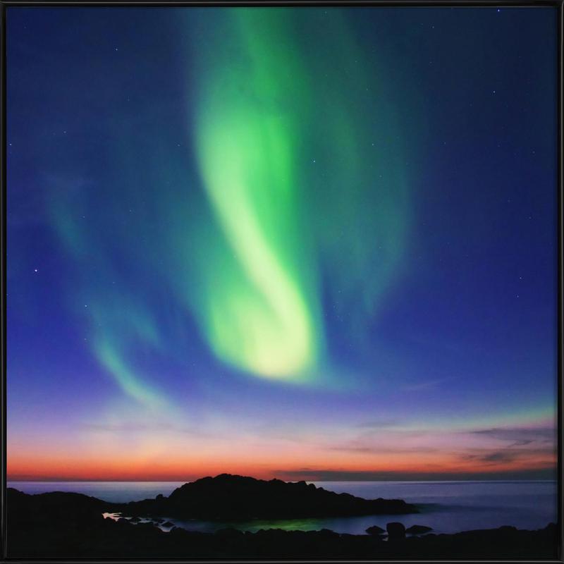 The Northern Lights 01 Framed Poster