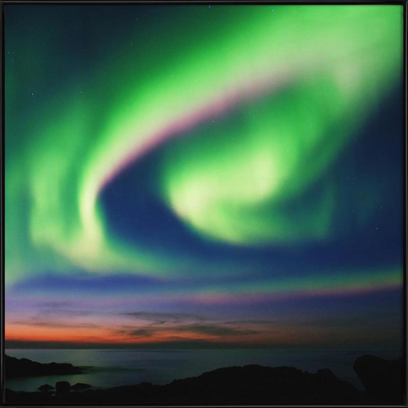 The Northern Lights 02 Framed Poster