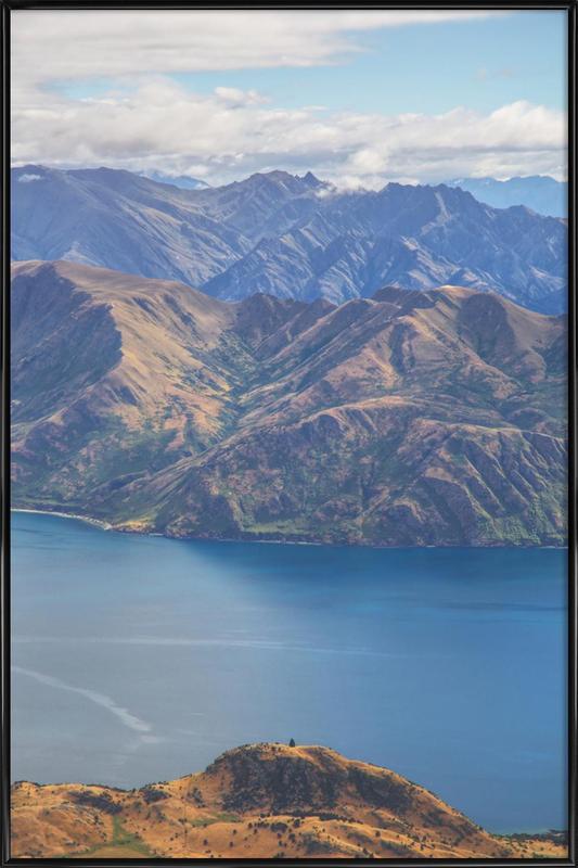Roys Peak Lookout -Bild mit Kunststoffrahmen