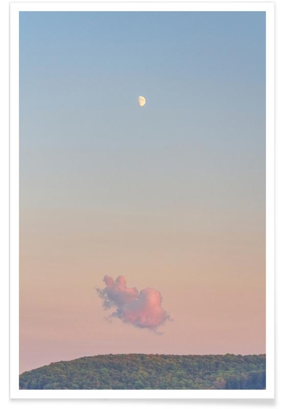 Forest Cloud Moon poster