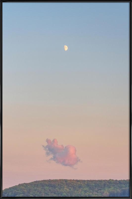Forest Cloud Moon -Bild mit Kunststoffrahmen