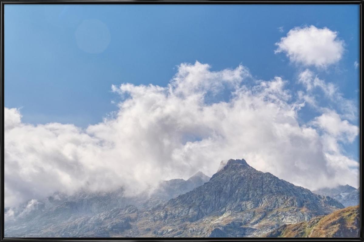 Gotthard Pass -Bild mit Kunststoffrahmen