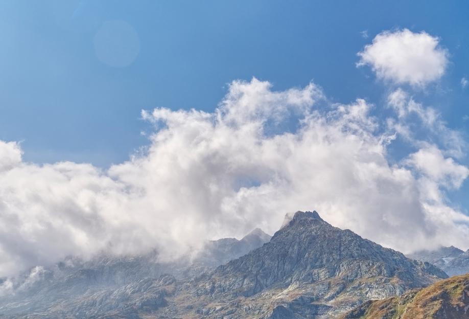 Gotthard Pass -Alubild