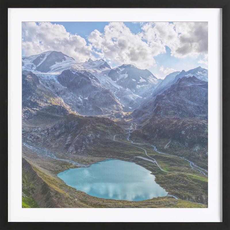Heart Lake ingelijste print