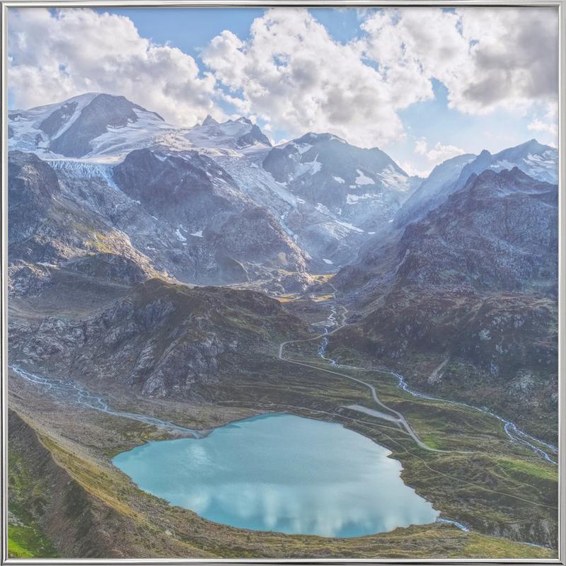 Heart Lake -Poster im Alurahmen
