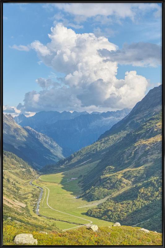 Swiss Valley -Bild mit Kunststoffrahmen