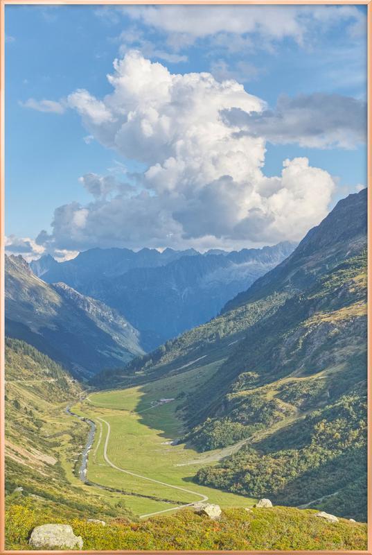 Swiss Valley -Poster im Alurahmen
