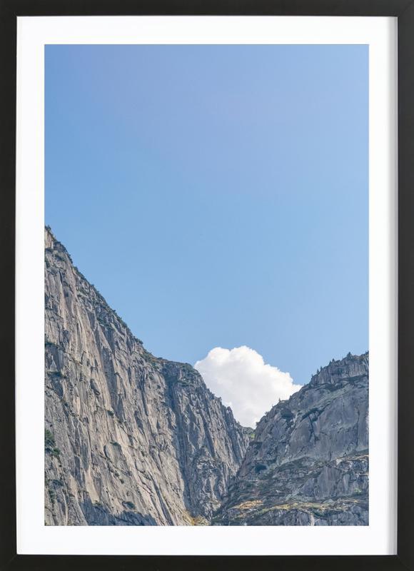 The White Cloud -Bild mit Holzrahmen