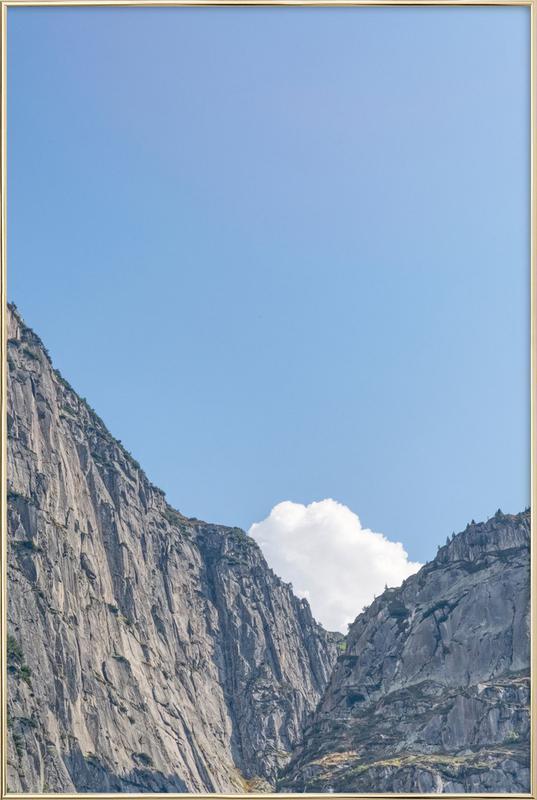 The White Cloud -Poster im Alurahmen