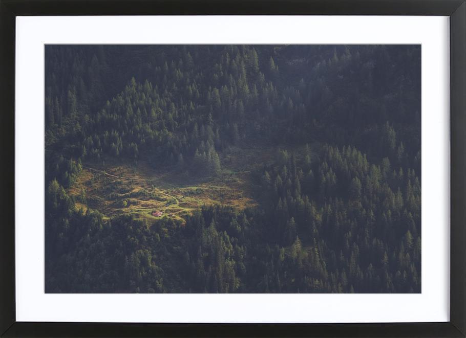 Touched by Light -Bild mit Holzrahmen