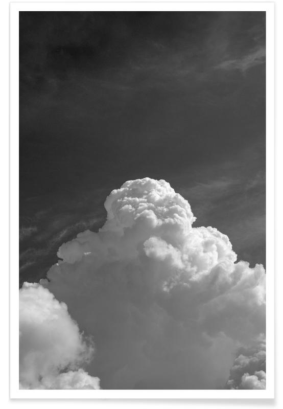 Skies & Clouds, Black & White, Cloudscape 3 Poster