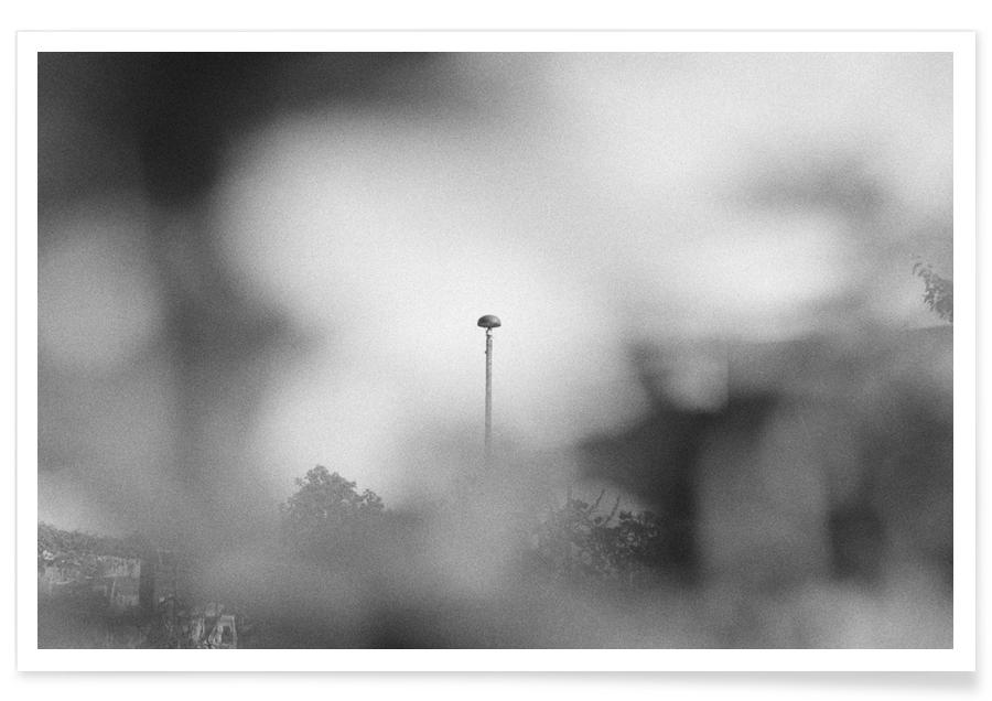 Architectural Details, Black & White, Blurred View Poster
