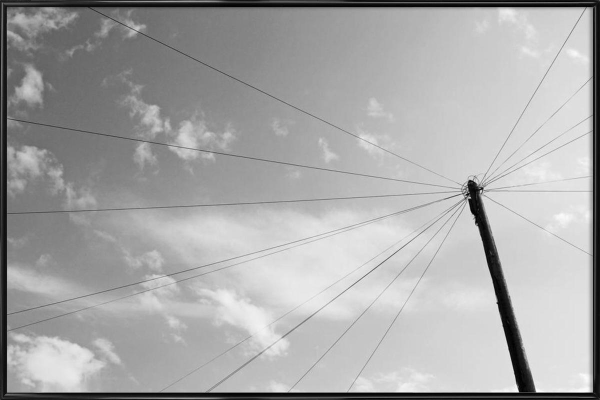 Power pole -Bild mit Kunststoffrahmen