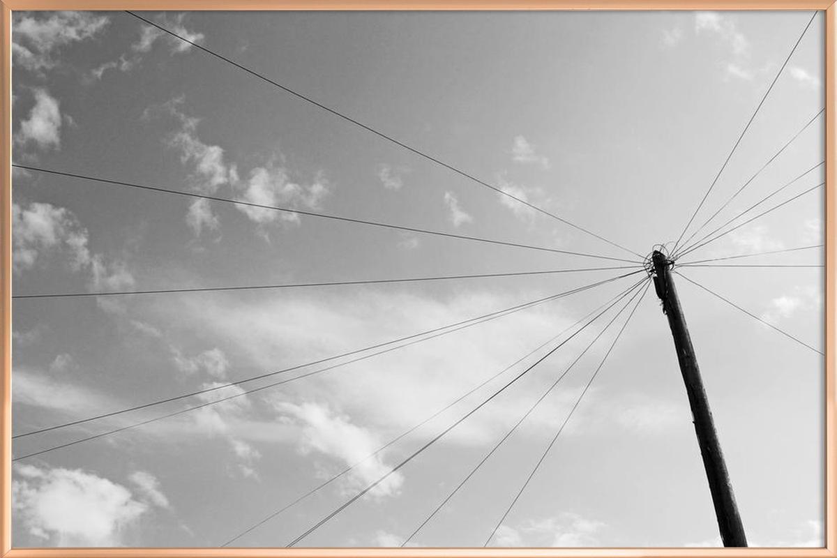 Power pole -Poster im Alurahmen
