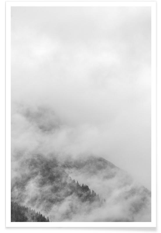 Skies & Clouds, Black & White, Forests, Just A Glimpse 4 Poster