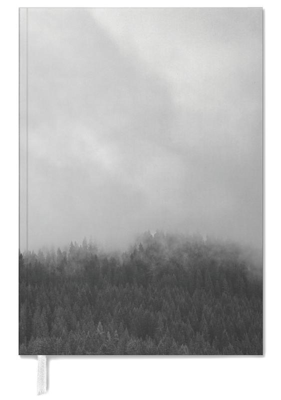 Himmel & Wolken, Schwarz & Weiß, Wälder, Clouded Forest -Terminplaner