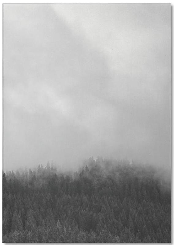 Ciels & nuages, Noir & blanc, Forêts, Clouded Forest bloc-notes