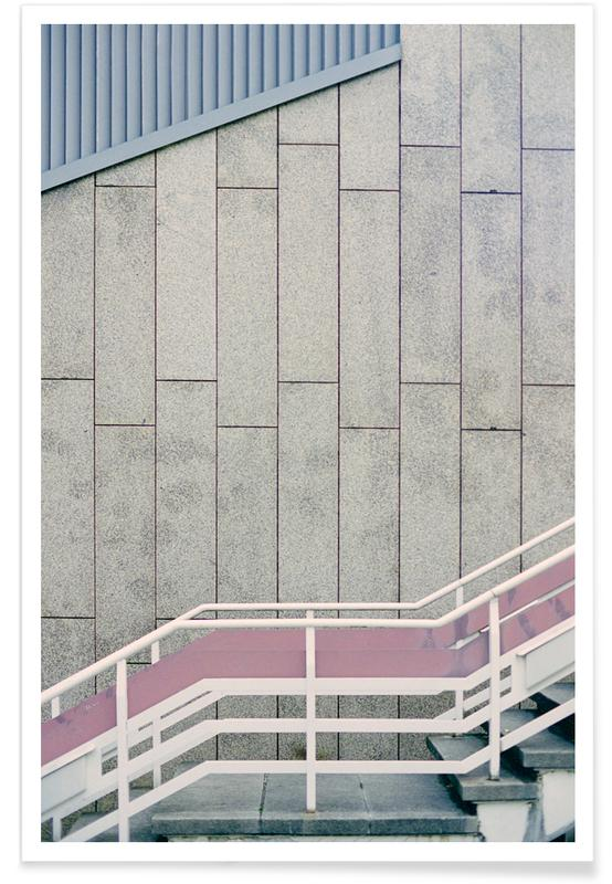 Architectonische details, Zwart en wit, Up The Stairs poster