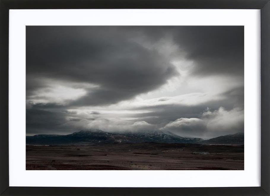 Heavy sky Framed Print