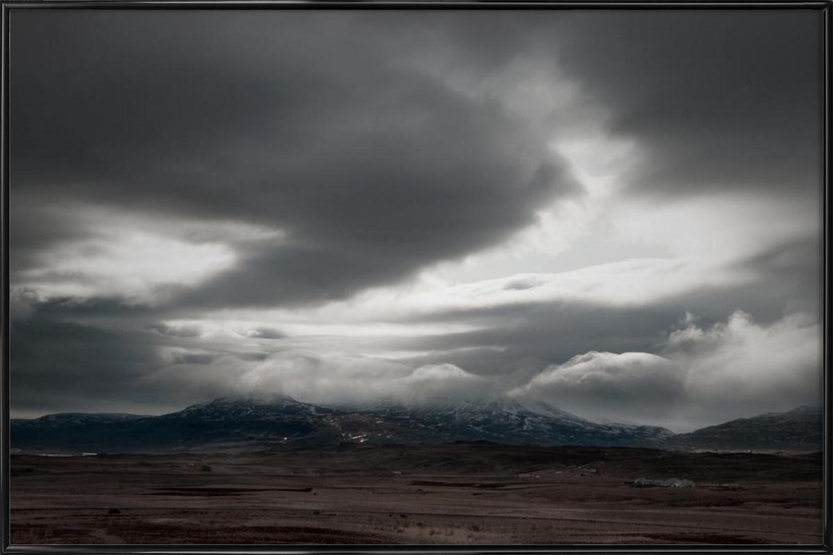 Heavy sky Framed Poster