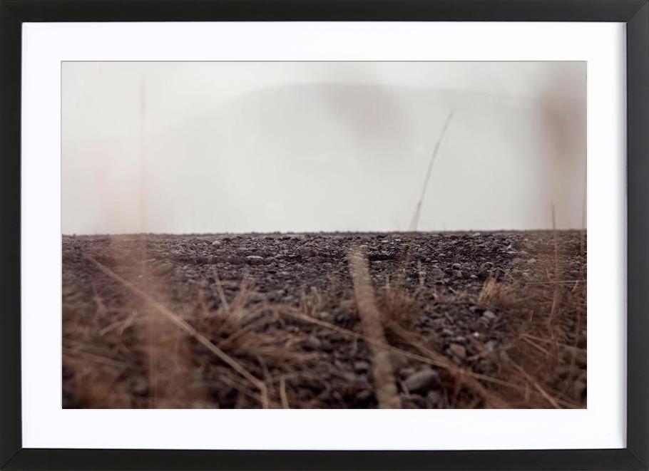Hiding ground -Bild mit Holzrahmen