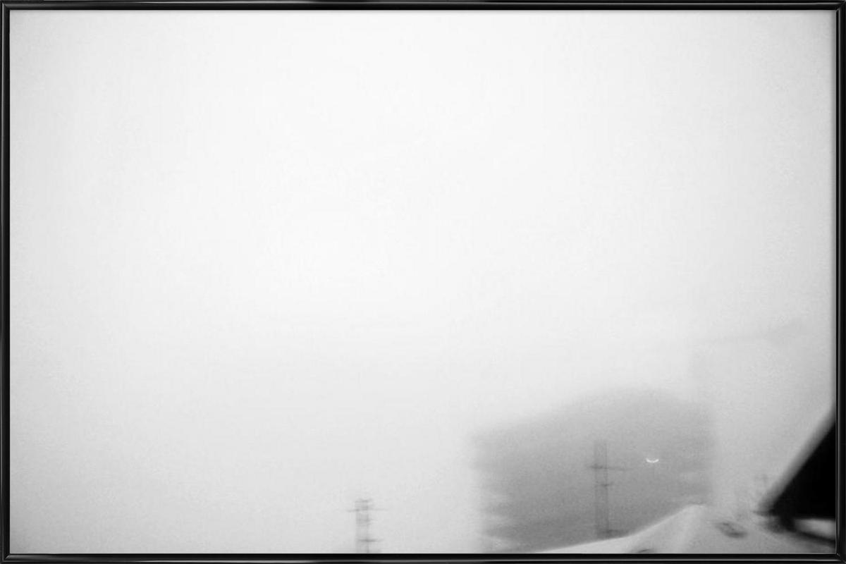 Reykjavík in the mist 2 Framed Poster