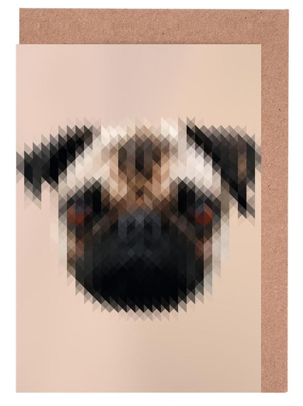 Mops Greeting Card Set
