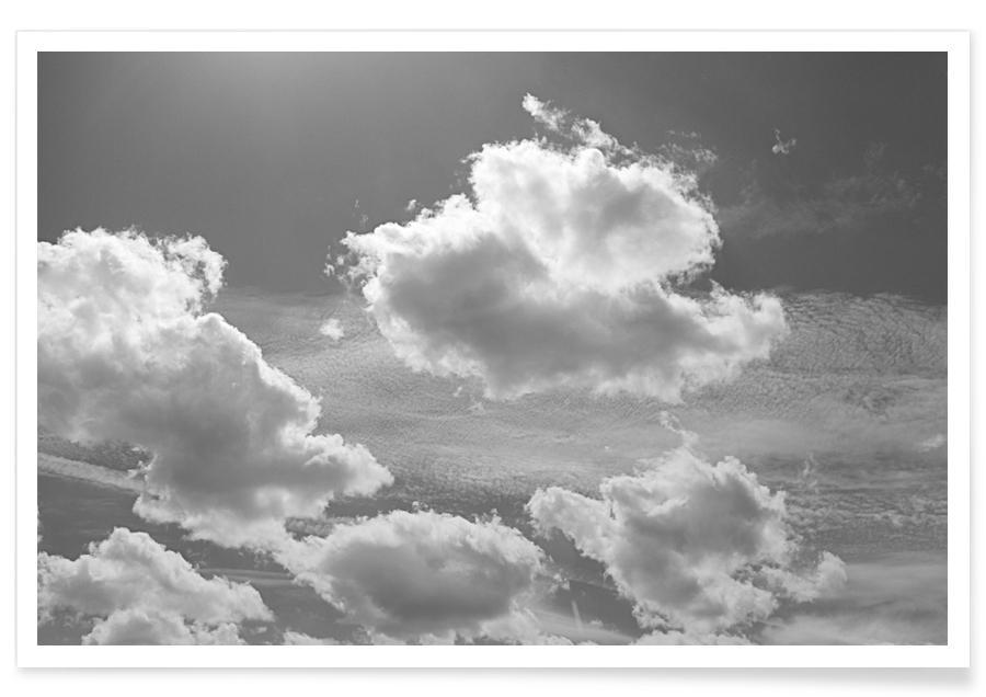 Black & White, Skies & Clouds, Berlin Sky Poster