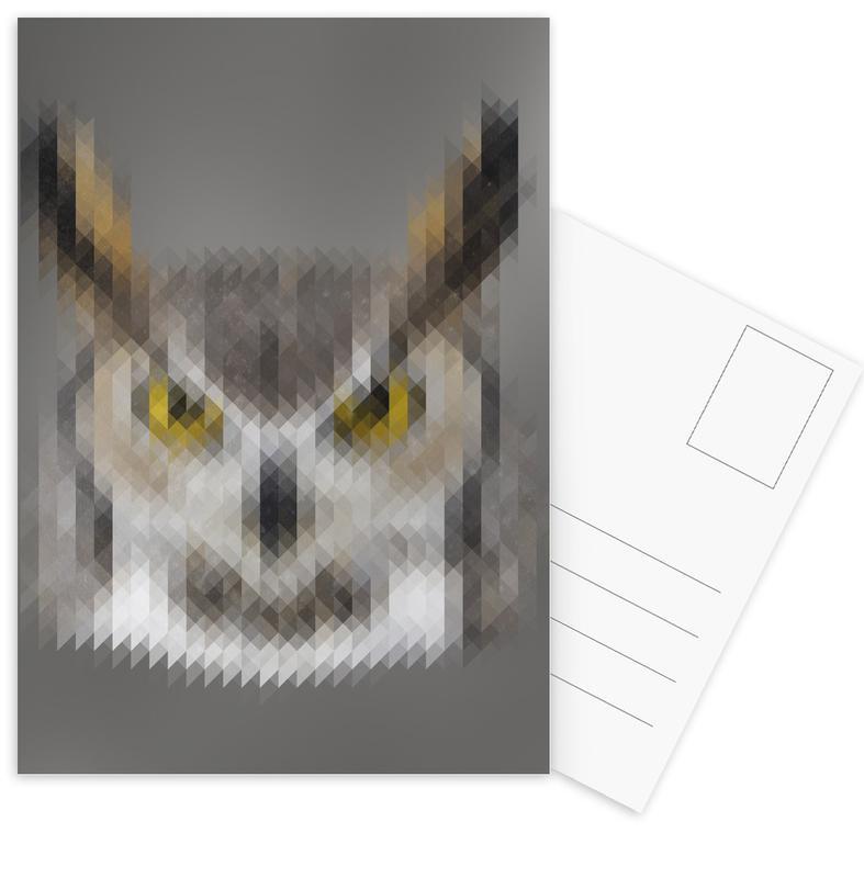 Uilen, Owl ansichtkaartenset
