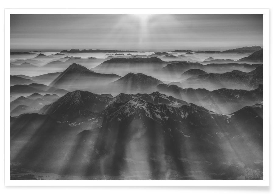 Balloon Ride over the Alps 1 Poster