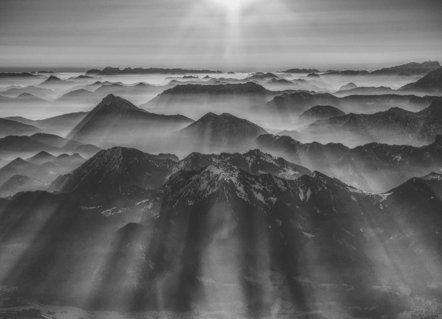 Balloon Ride over the Alps 1 -Leinwandbild