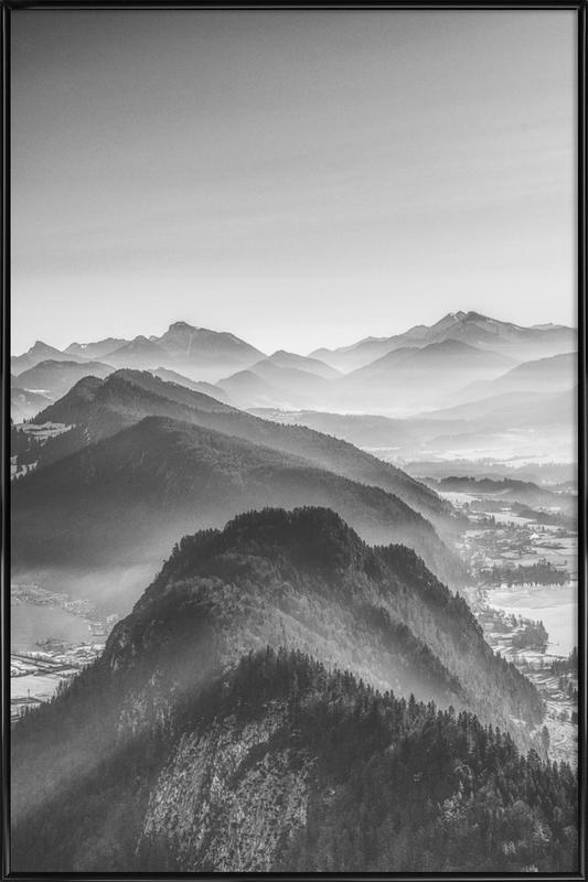 Balloon Ride over the Alps 3 Poster i standardram