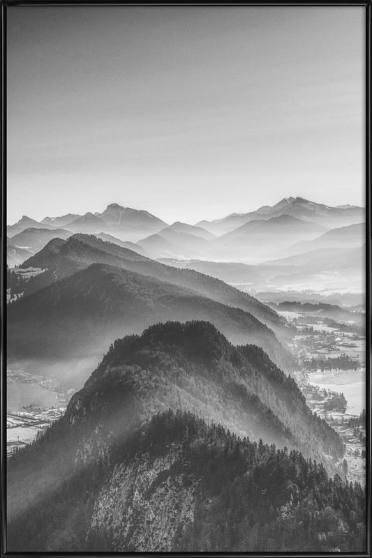 Balloon Ride over the Alps 3 -Bild mit Kunststoffrahmen