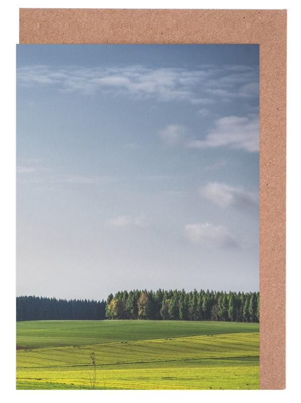 Spring Greens Greeting Card Set